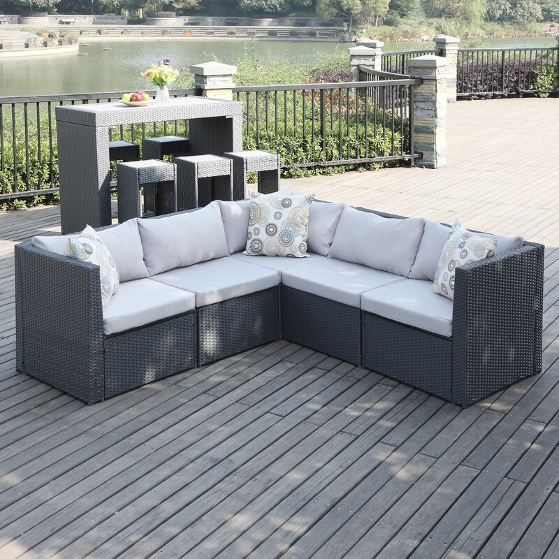 Lachesis Patio Sectional With Cushions