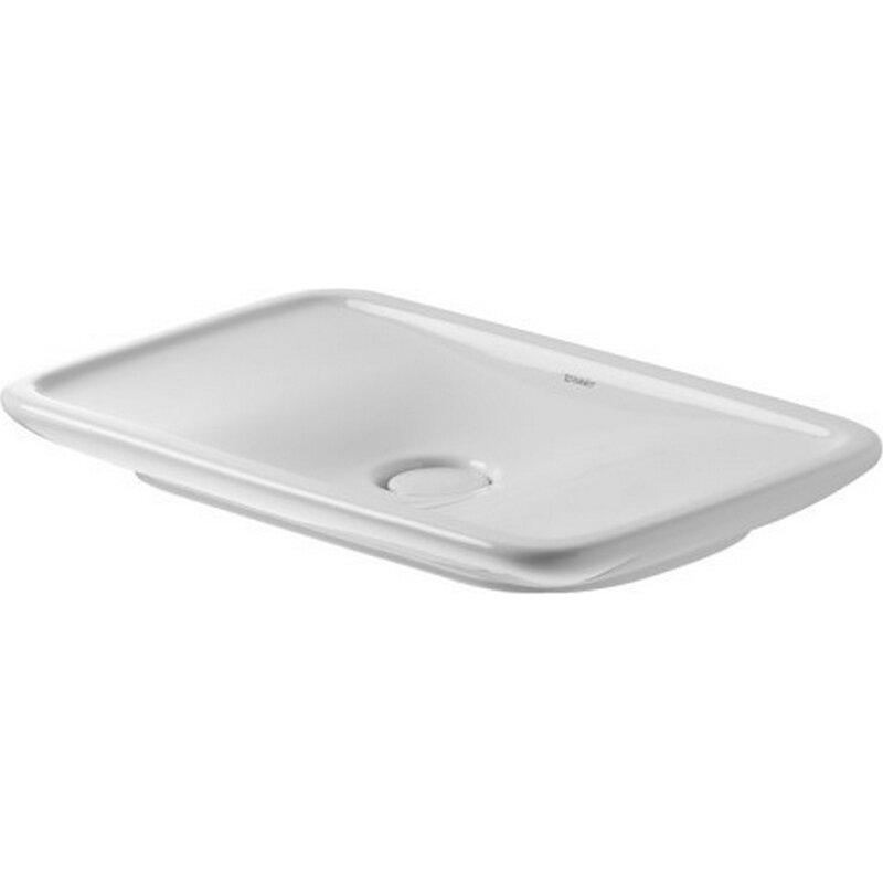 Ordinaire Duravit PuraVida Ceramic Rectangular Vessel Bathroom Sink With Overflow