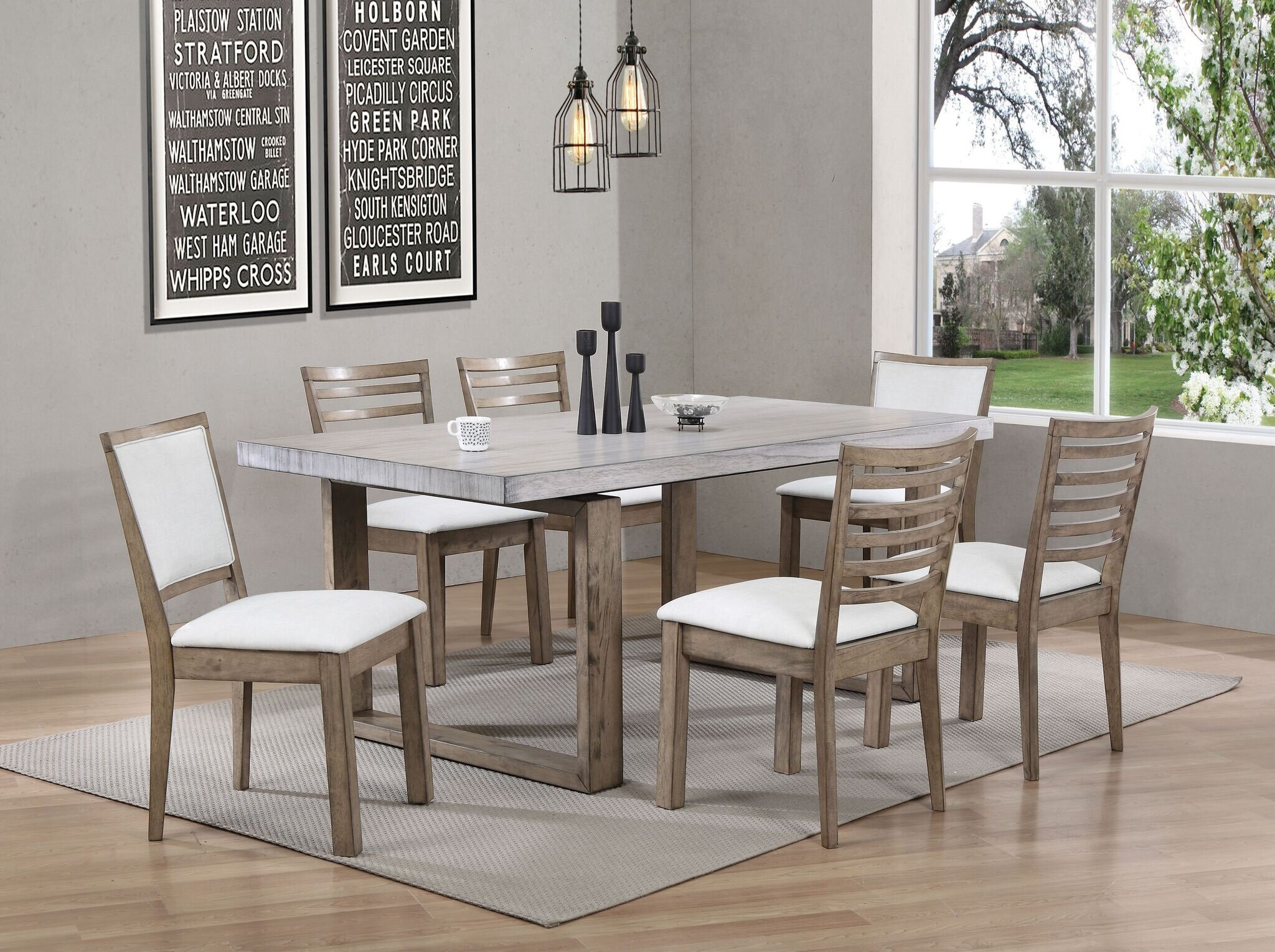 b6ae4f5bd4 Rosecliff Heights Cleveland 7 Piece Dining Set | Wayfair