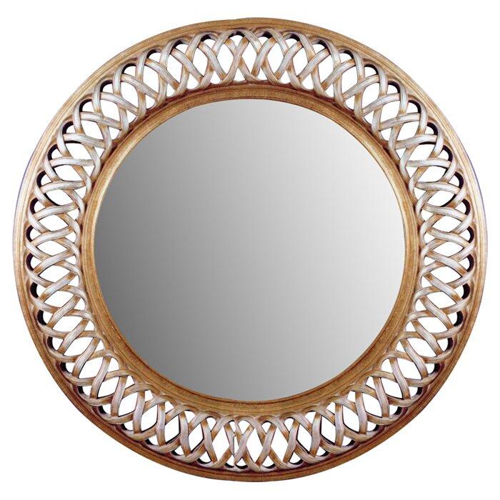 stewart round oversized wall mirror