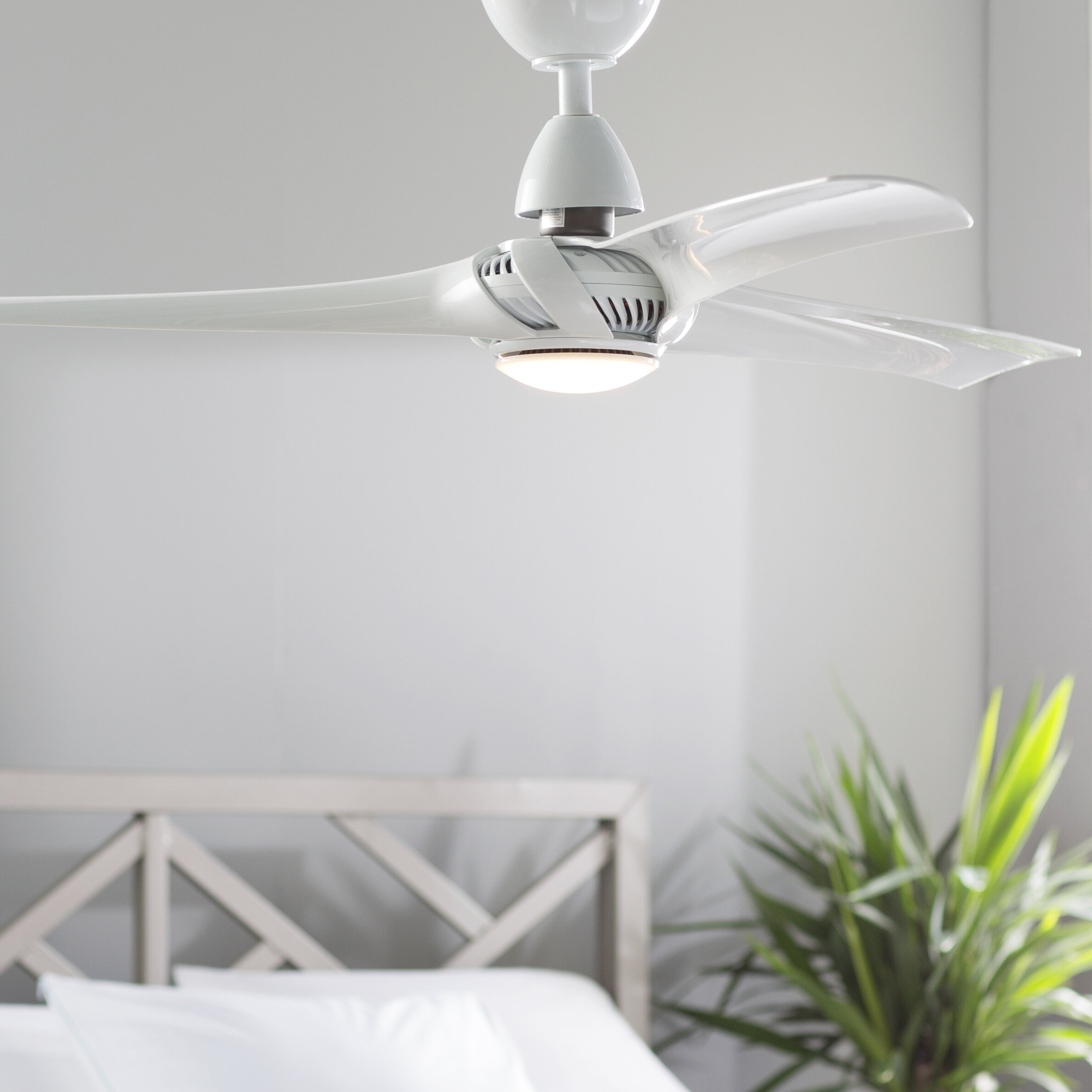 """Union Rustic 52"""" Lilith 3 Blade LED Ceiling Fan with Remote"""