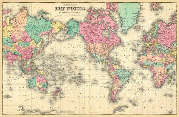 World Map Wall Mural swag paper colorful world map wall mural & reviews | wayfair