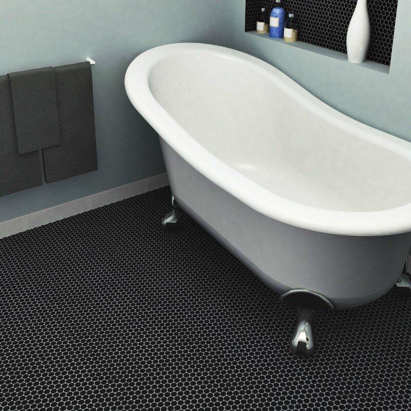 Elitetile Retro Penny Round 975 X 115 Porcelain Mosaic Tile In