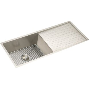 Kitchen sink with drainboard wayfair crosstown 44 x 18 undermount kitchen sink with drainboard grid and drain assembly workwithnaturefo
