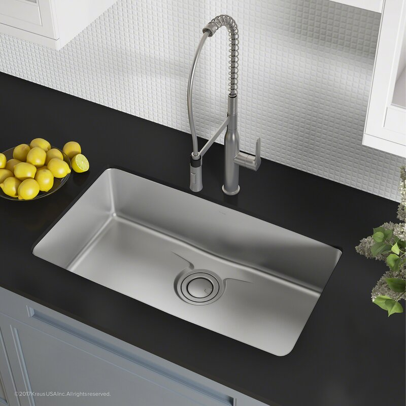 Dex™ Series 33  x 19  Undermount Kitchen Sink & Dex™ Series 33