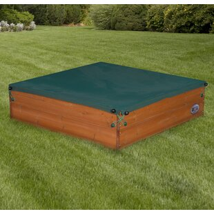 Sunny Cedar Wooden Square Sandbox With Cover