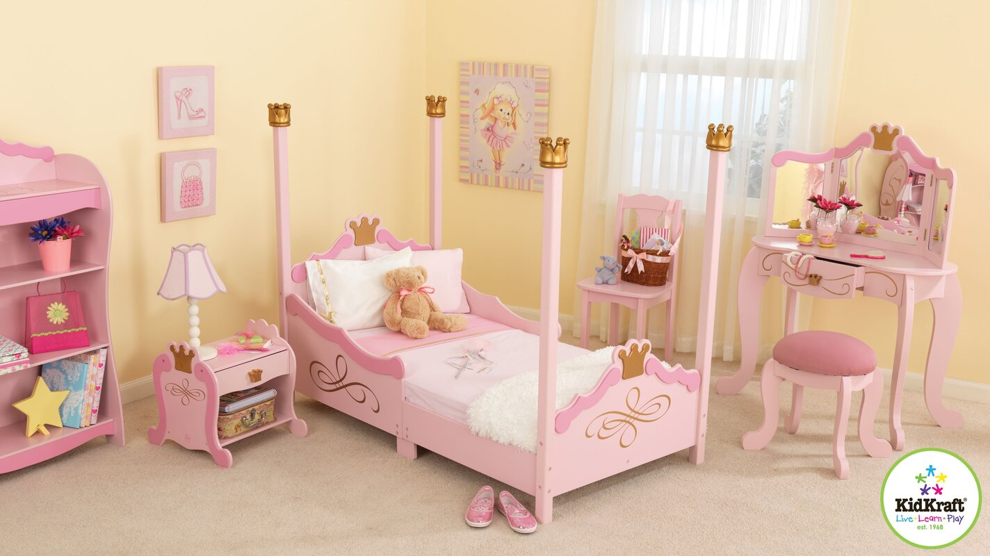 KidKraft Princess Toddler Four Poster Configurable Bedroom Set ...