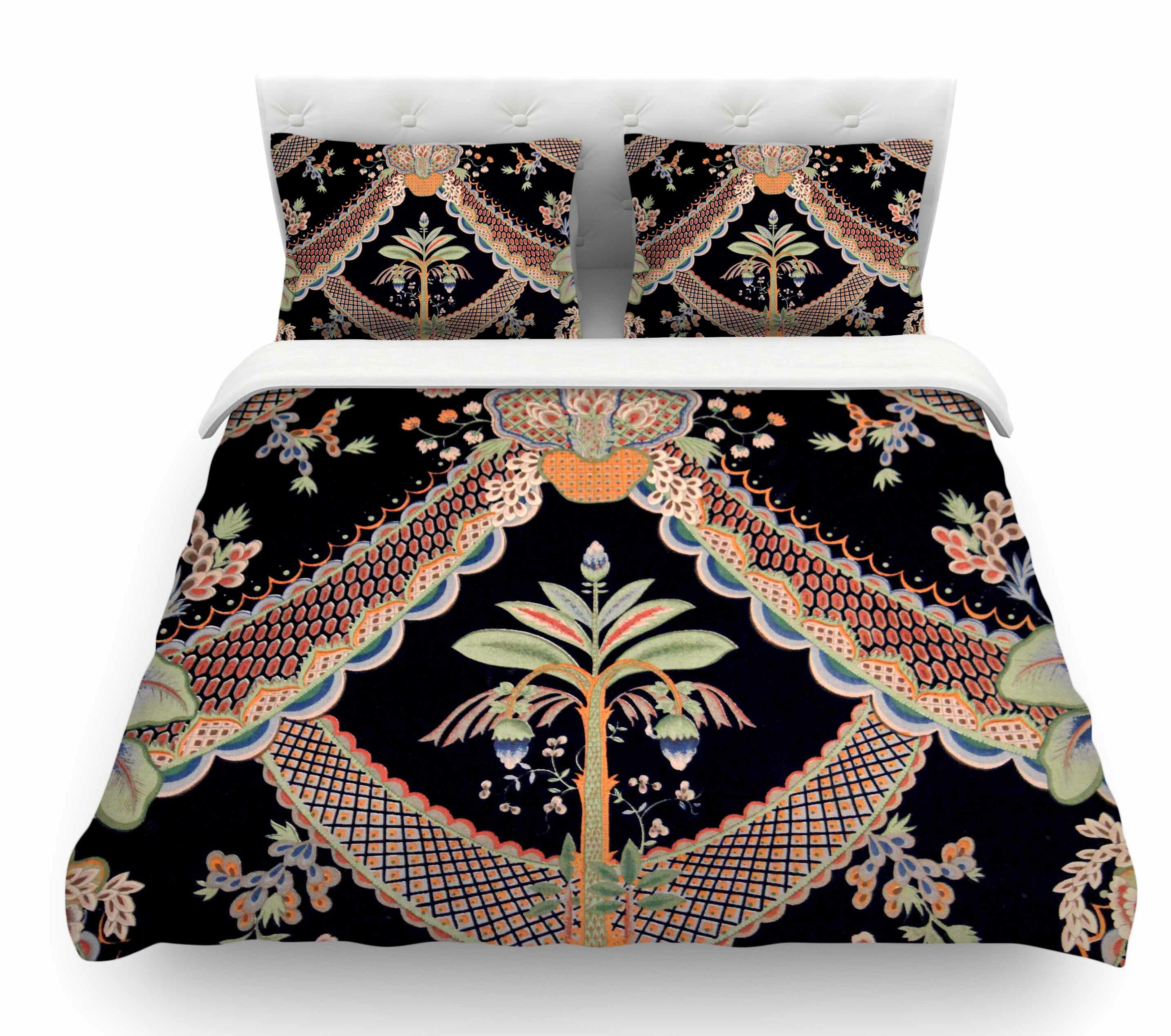 East Urban Home Vintage Paisley Pattern By Philip Brown Art Deco Featherweight Duvet Cover Wayfair