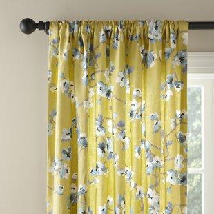 Iris Linen Single Curtain Panel