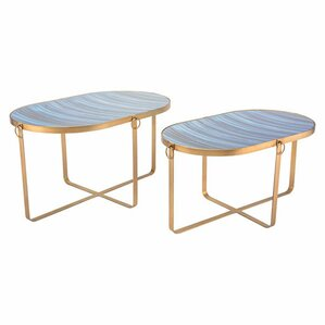Yentin 2 Piece Nesting Tables by Everly Quinn