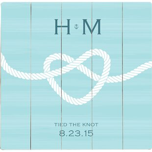 Personalized Tied The Knot Graphic Art Print On Wood