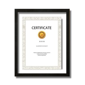 decorative double glass certificate picture frame - Double Glass Frame