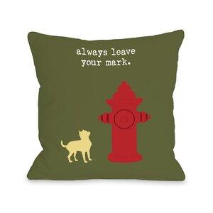 Doggy Du00e9cor Leave Your Mark Throw Pillow