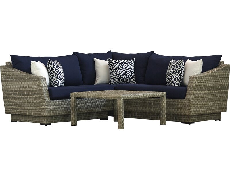 Castelli 4 Piece Sectional Sofa Set With Cushions Allmodern