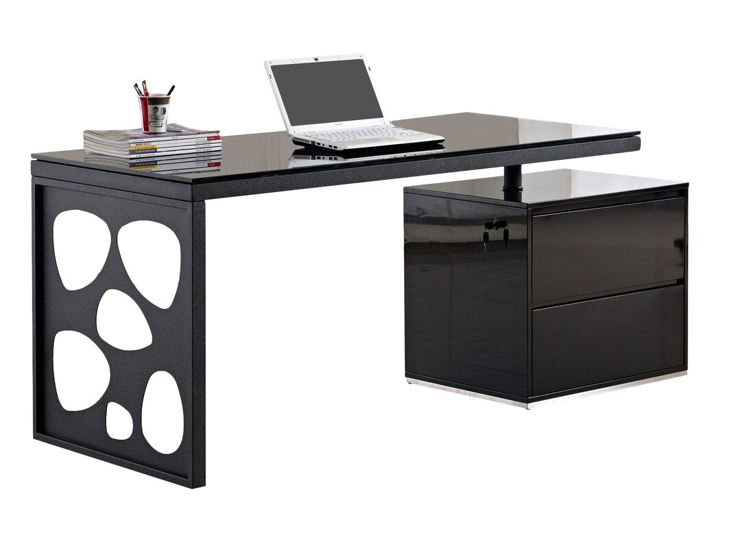 modern computer desk brayden studio waugh modern computer desk amp reviews wayfair 13161