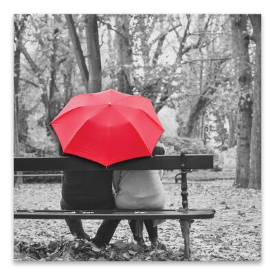 Red Umbrella Couple Wall Art Wayfair