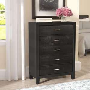 Hoytville 5 Drawer Chest by Three Posts