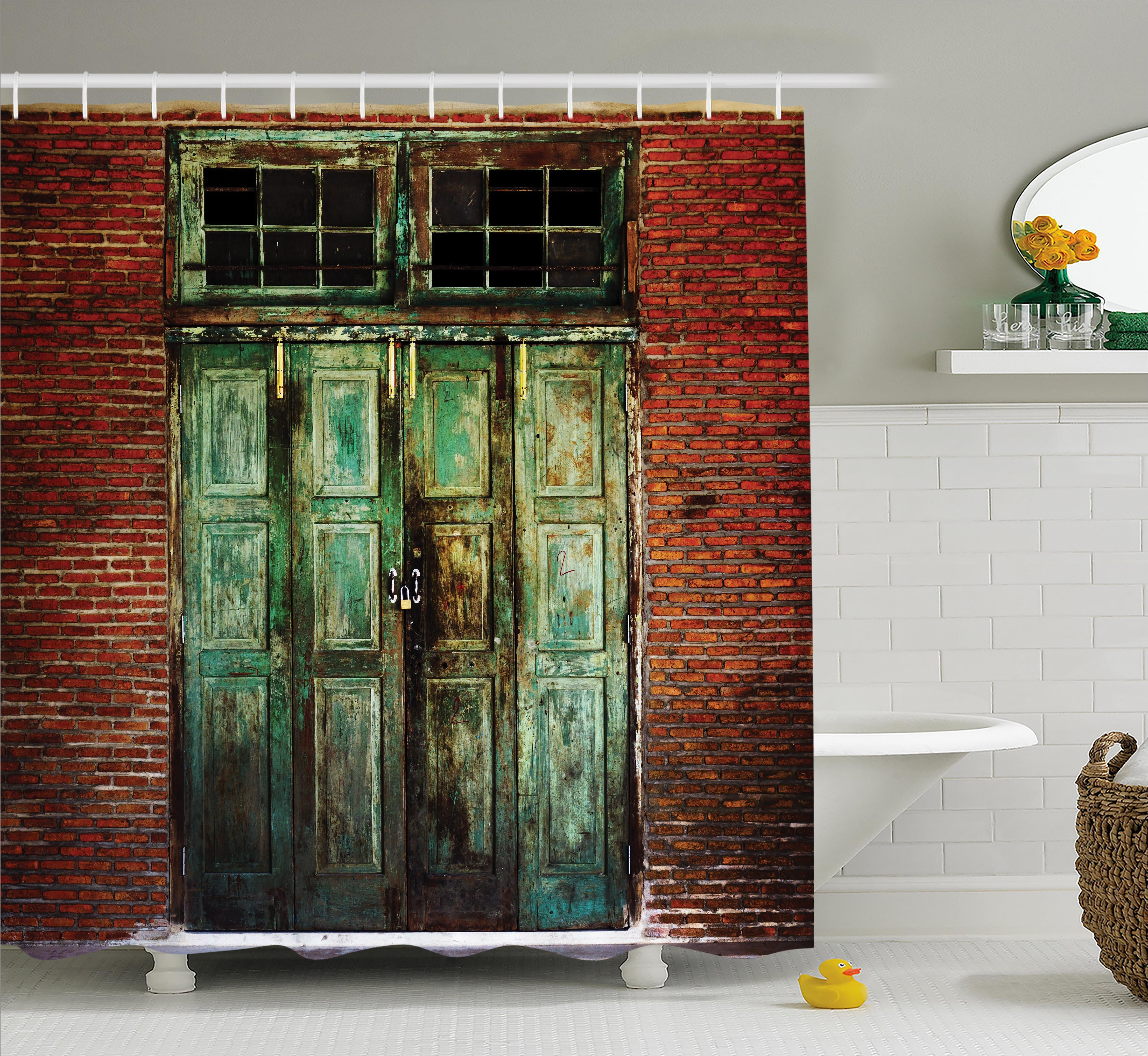 East Urban Home Rustic Rusty Old Retro Door Shower Curtain