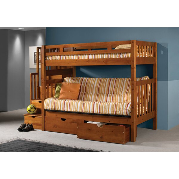 Donco Kids Stairway Loft Bunk Bed with Storage Drawers Reviews