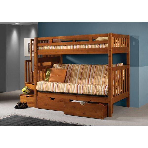 Harriet Bee Langley Stairway Loft Bunk Bed with Storage Drawers u0026 Reviews | Wayfair  sc 1 st  Wayfair & Harriet Bee Langley Stairway Loft Bunk Bed with Storage Drawers ...
