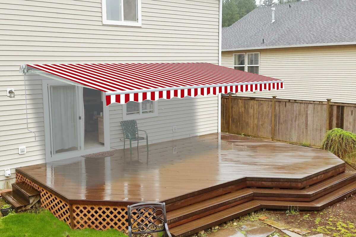 Aleko 16 Ft W X 10 Ft D Retractable Patio Awning