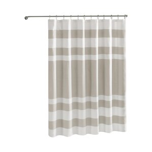 brown and white shower curtain. Malory Shower Curtain Brown Curtains You ll Love  Wayfair