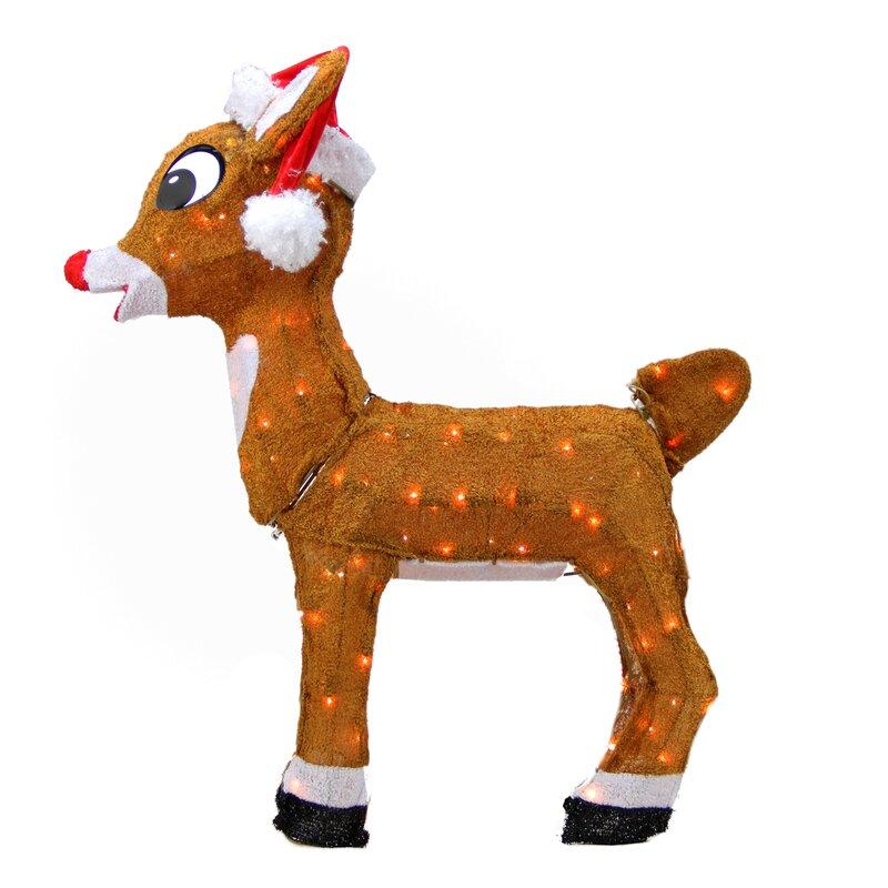 Northlight Rudolph the Red-Nosed Reindeer Pre-Lit in Santa ...