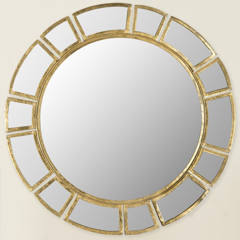 Willa Arlo Interiors Birksgate Round Antique Gold Patina Sunburst Wall Mirror Reviews Wayfair