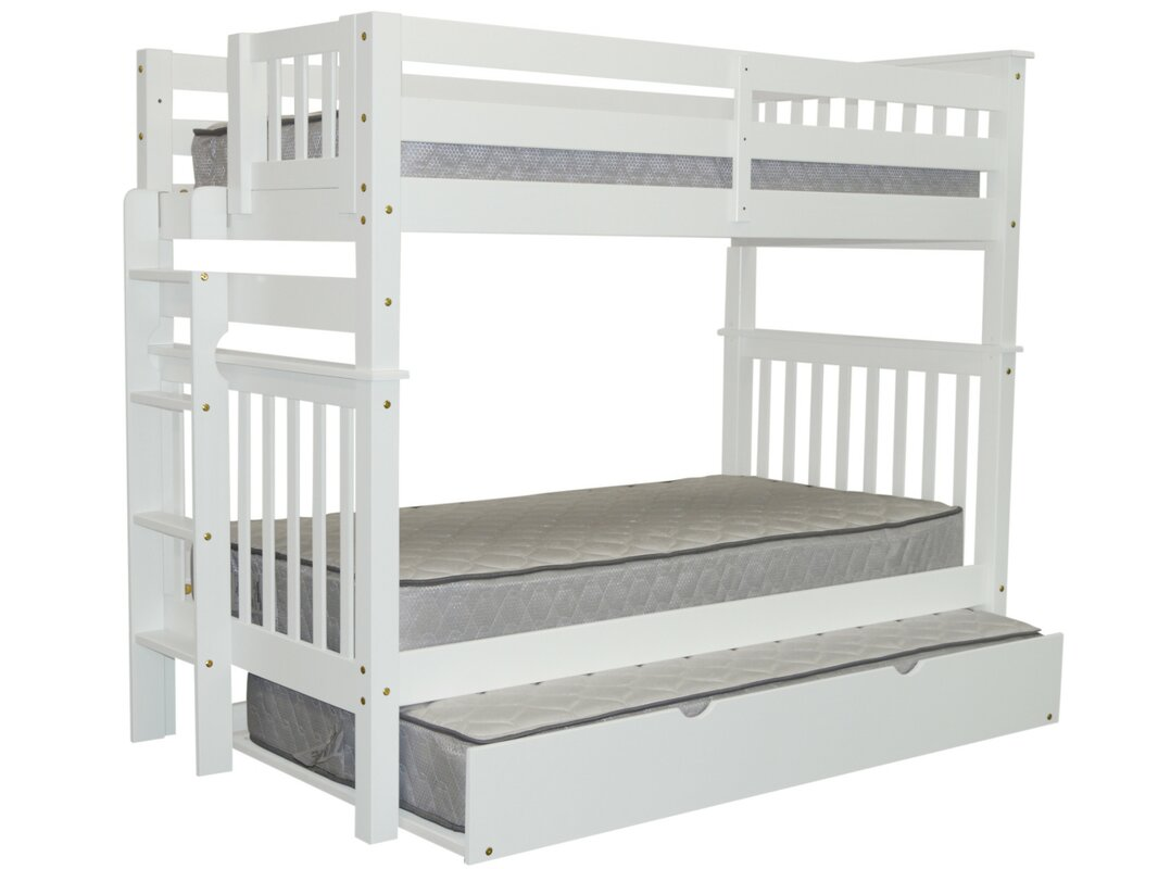 bedz king twin captain bed with trundle and storage