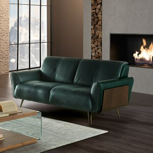 Tobia Leather Loveseat by Natuzzi Editions