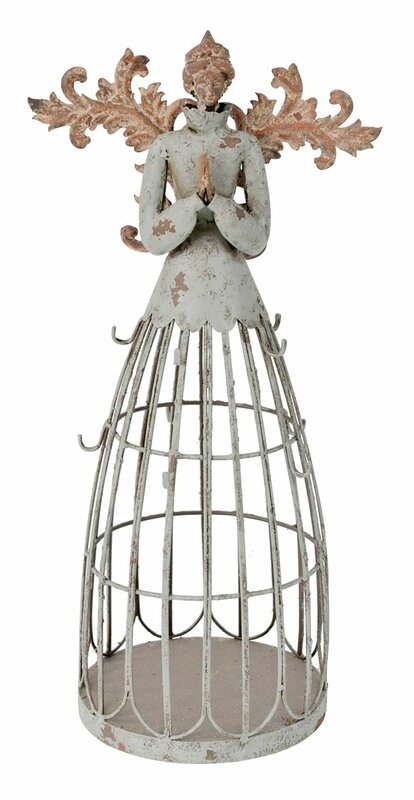 AttractionDesignHome Antiqued Garden Angel With Hook
