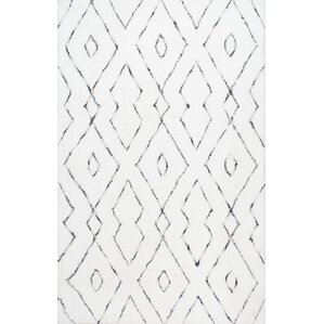 peraza handtufted white area rug