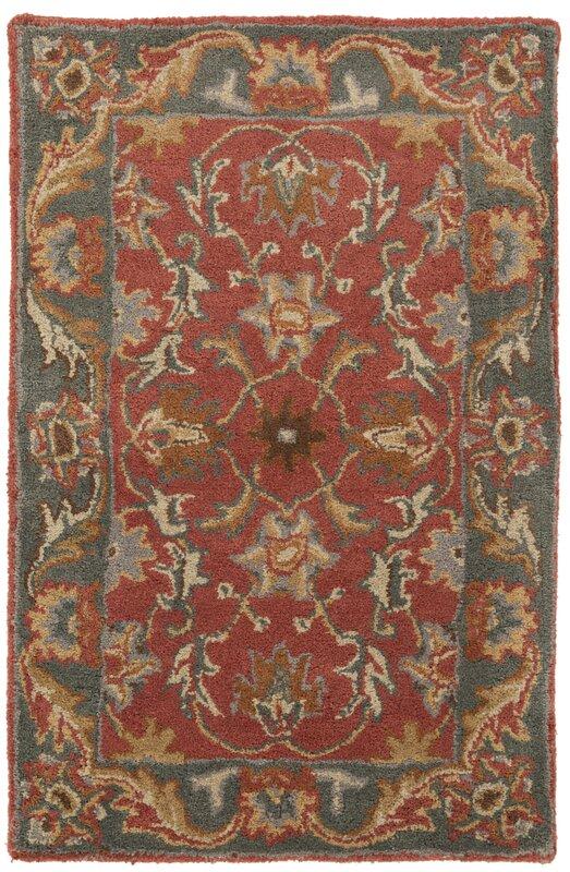Waterston Hand Tufted Wool Burnt Orange Dark Brown Area