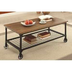 Lucy Coffee Table with Magazine Rack by Trent Austin Design