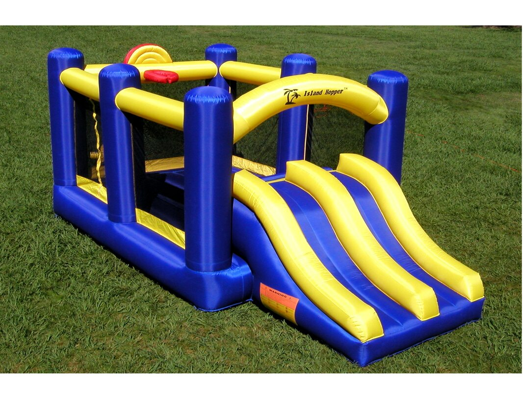 Island Hopper Racing Slide and Slam Bounce House & Reviews | Wayfair