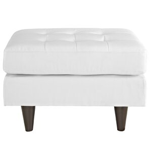 Warren Leather Ottoman by Langley Street
