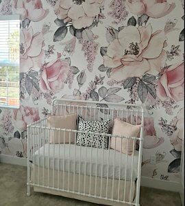 Mayflower Removable Nursery Watercolor Vintage Fl Art 4 17 L X 50 W And Stick Wallpaper Roll