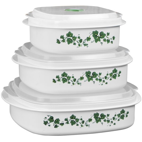 Corelle Impressions Callaway Microwave Cookware 3 Container Food Storage  Set U0026 Reviews | Wayfair