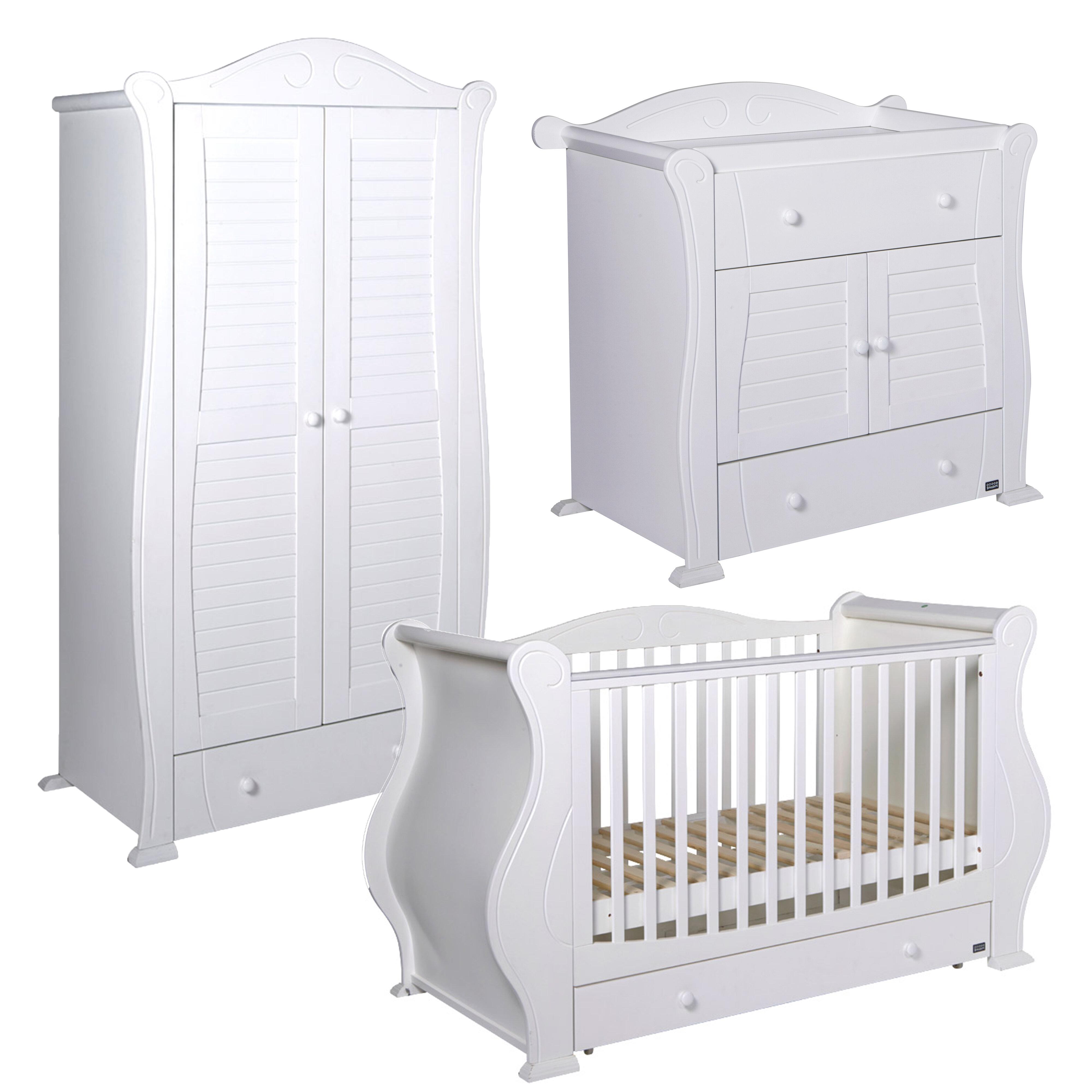 Tutti Bambini Marie Cot Bed 3 Piece Nursery Furniture Set Wayfair