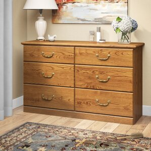 Oxford 6 Drawer Double Dresser by Charlton Home