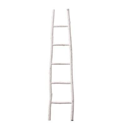 Beachcrest Home Painted Wood 6 ft Blanket Ladder