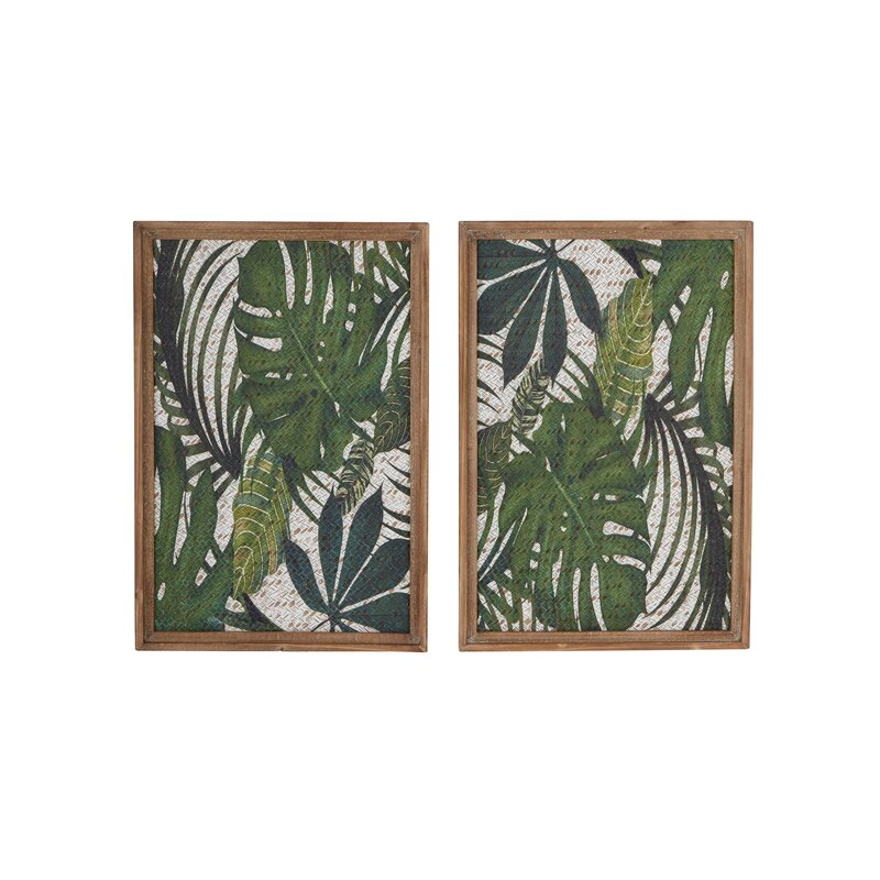 Bellefonte 2 Piece Wood Leaf Art Wall Decor Set
