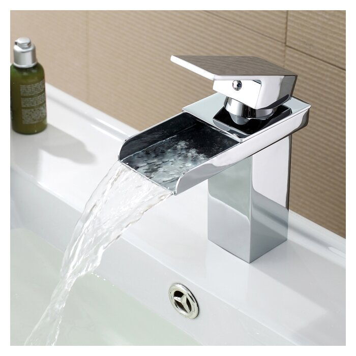 faucet brushed waterfall item nickel icarekit one vessel wholesale faucets tap bathroom hole lavatory handle