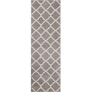 Dax Lattice Gray & White Area Rug