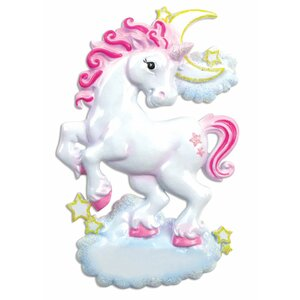 Child Unicorn Shaped Ornament