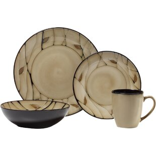 Everyday Briar 16 Piece Dinnerware Set Service for 4  sc 1 st  Wayfair & Black Dinnerware Sets You\u0027ll Love | Wayfair