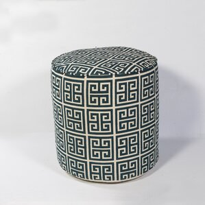 Ismene Greek Key Pouf Otto..
