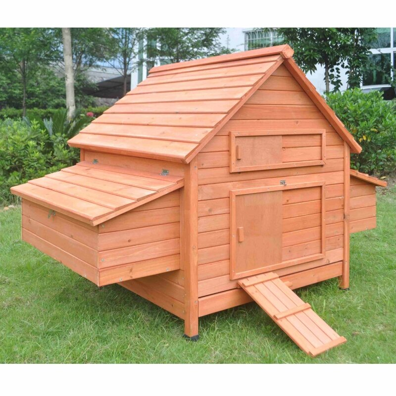 Aleko Multi Level Wooden Chicken Coop Amp Reviews Wayfair