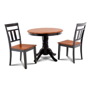 Cedarville 3 Piece Carved Wood Dining Set by Alcott Hill
