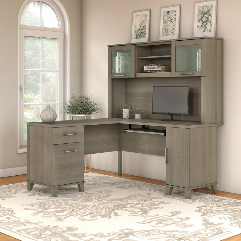 Admirable Kittle Somerset L Shaped Executive Desk With Hutch Download Free Architecture Designs Scobabritishbridgeorg